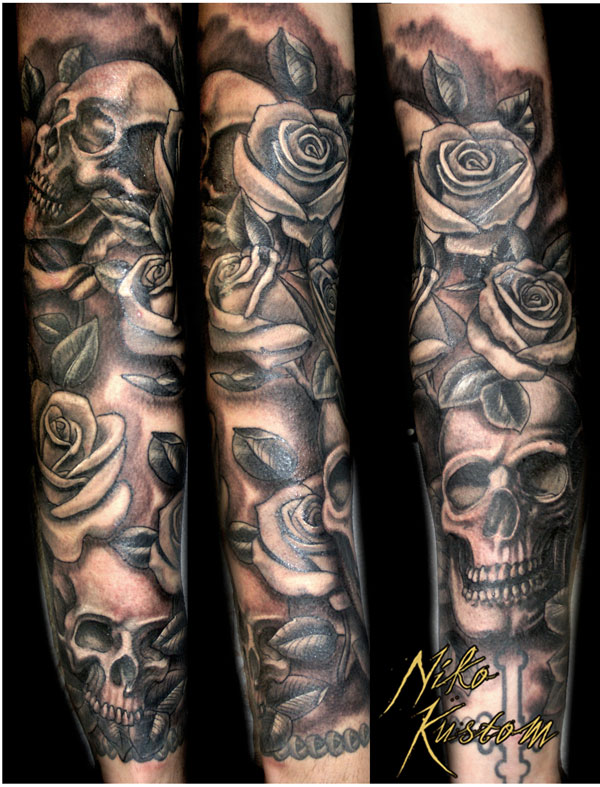 Derni res cr ations de niko tatouage paris kustom tattoo - Manchette homme tatouage ...
