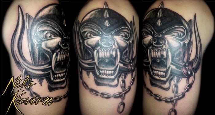 Tatouages Sur Le Theme Metal Gothique Tatouage Paris Kustom Tattoo