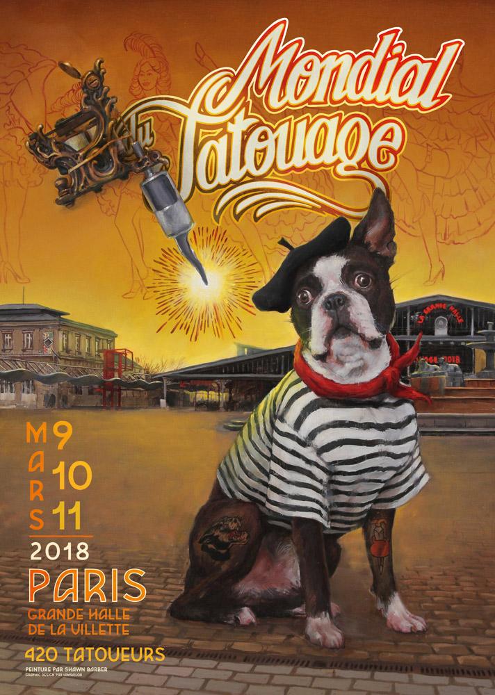 Niko sera au Mondial du Tatouage les 9, 10 et 11 mars 2018 à Paris