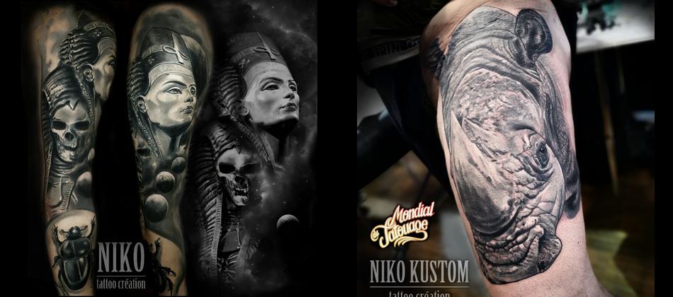 Tatouage Paris Kustom Tattoo Avec Niko Le Tatoueur à Paris
